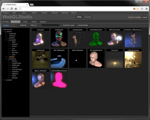 WebGLStudio.js - 3D-Toolkit im Browser